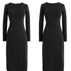 J. Crew   Black Knit Cotton Sheath Dress 00  G05
